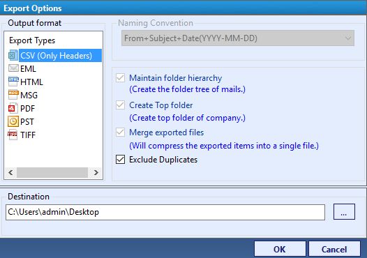 OLM to CSV Converter - Tool to Export OLM Emails Header to