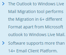 Lotus Notes to Windows Live Mail migrator