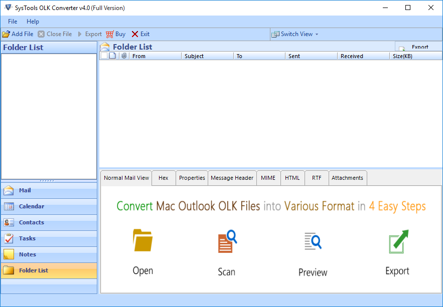 OLK Converter – Tool to Export Olk15 & Olk14message to PST